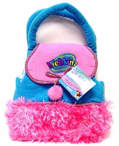 Webkinz Plush Accessory Blue Purse with Pink Fur