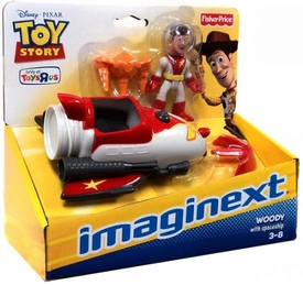 Imaginext Disney / Pixar Toy Story Exclusive Playset Woody with Spaceship