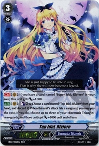 Cardfight Vanguard ENGLISH Banquet of Divas Single Card RRR Rare EB02-002EN Top Idol, Riviere
