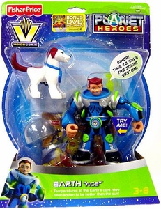 Planet Heroes Deluxe Action Figure Voice Comm Earth Ace
