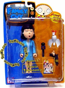 Mezco Family Guy Series 5 Action Figure Asian Reporter Tricia Takanawa [Blue Suit]