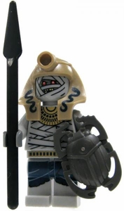 LEGO Pharaoh's Quest LOOSE Mini Figure Serpent Mummy Warrior with Spear & Scarab Shield