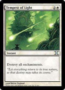 Magic the Gathering Tenth Edition Single Card Uncommon #51 Tempest of Light