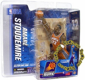 McFarlane Toys NBA Sports Picks Series 9 Action Figure Amare Stoudamire (Phoenix Suns) Orange Jersey Variant