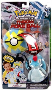 Pokemon Toy Plush Throw Poke Ball Diamond & Pearl Series 3 Azelf