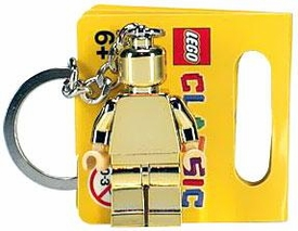 LEGO Classic Limited Edition Mini Figure Keychain #852688 Golden Minifigure