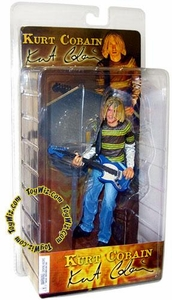 NECA 7 Inch Action Figure Kurt Cobain [Green & Yellow Striped Shirt & Blue Guitar]