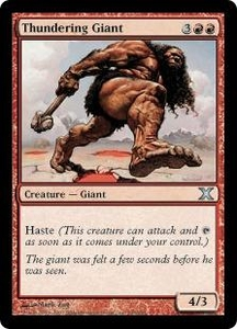 Magic the Gathering Tenth Edition Single Card Uncommon #243 Thundering Giant