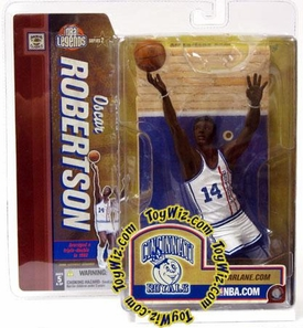 McFarlane Toys NBA Sports Picks Legends Series 2 Action Figure Oscar Robertson (Cincinnati Royals) White Jersey Retro Variant