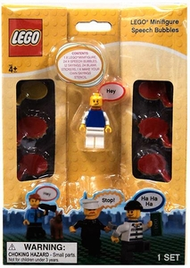 LEGO Minifigure with Speech Bubbles [Blue Shirt]