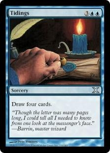 Magic the Gathering Tenth Edition Single Card Uncommon #116 Tidings