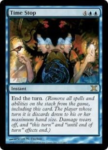 Magic the Gathering Tenth Edition Single Card Rare #117 Time Stop
