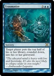 Magic the Gathering Tenth Edition Single Card Rare #119 Traumatize