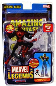 Marvel Legends Series 10 Action Figure 1st Appearance Spider-Man [Sentinel Build-A-Figure]