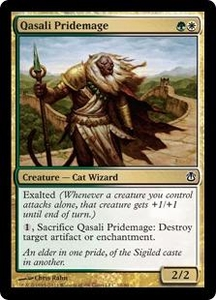 Magic the Gathering Duel Decks: Ajani vs. Nicol Bolas Single Card Gold Common #10 Qasali Pridemage