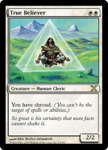 Magic the Gathering Tenth Edition Single Card Rare #53 True Believer