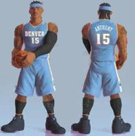 Upper Deck Authenticated All Star Vinyl Figure Carmelo Anthony (Light Blue Away Jersey)
