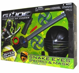 GI Joe Movie The Rise of Cobra Playset Snake Eyes Sword & Mask with Ninja Stars