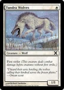 Magic the Gathering Tenth Edition Single Card Common #54 Tundra Wolves