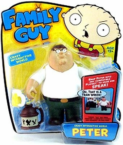 Playmates Family Guy Series 1 Voice Activated Action Figure Peter Griffin
