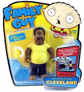 Playmates Family Guy Series 1 Voice Activated Action Figure Cleveland Brown