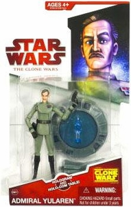 Star Wars 2009 Clone Wars Animated Action Figure CW No. 07 Admiral Yularen