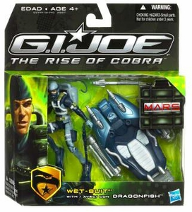 GI Joe Movie The Rise of Cobra Exclusive M.A.R.S. Troopers Action Figure Wet-Suit with Dragonfish
