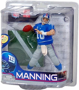 McFarlane Toys NFL Sports Picks Series 26 Action Figure Eli Manning (New York Giants) Blue Jersey