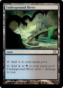 Magic the Gathering Tenth Edition Single Card Rare #362 Underground River