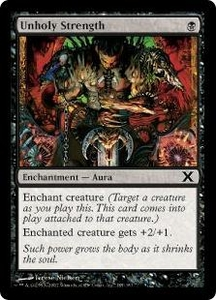 Magic the Gathering Tenth Edition Single Card Common #185 Unholy Strength
