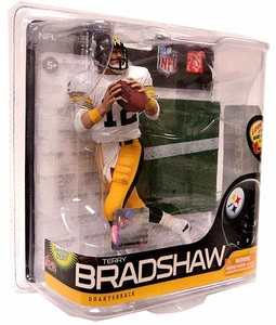 McFarlane Toys NFL Sports Picks Series 26 Action Figure Terry Bradshaw (Pittsburgh Steelers) White Jersey & Yellow Pants Bronze Collector Level Chase Only 3,000 Made!