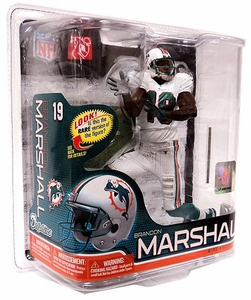 McFarlane Toys NFL Sports Picks Series 26 Action Figure Brandon Marshall (Miami Dolphins) White Jersey Bronze Collector Level Chase Only 3,000 Made!