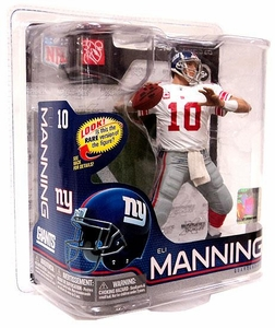 McFarlane Toys NFL Sports Picks Series 26 Action Figure Eli Manning (New York Giants) White Jersey Bronze Collector Level Chase Only 2,500 Made!