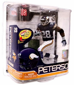 McFarlane Toys NFL Sports Picks Series 26 Action Figure Adrian Peterson (Minnesota Vikings) Solid Purple Jersey & Yellow Stripe On Pants Bronze Collector Level Chase Only 3,000 Made!