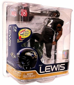 McFarlane Toys NFL Sports Picks Series 26 Action Figure Ray Lewis (Baltimore Ravens) All Black Uniform Silver Collector Level Chase Only 1,000 Made!