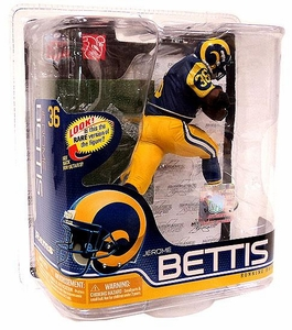 McFarlane Toys NFL Sports Picks Series 26 Action Figure Jerome Bettis (Los Angeles Rams) Blue Jersey Silver Collector Level Chase Only 1,000 Made!