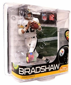 McFarlane Toys NFL Sports Picks Series 26 Action Figure Terry Bradshaw (Pittsburgh Steelers) ALL WHITE Uniform Silver Collector Level Chase Only 600 Made!
