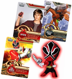 Power Rangers SUPER Samurai 1 Inch PVC Mini Figure & Trading Card Red Ranger