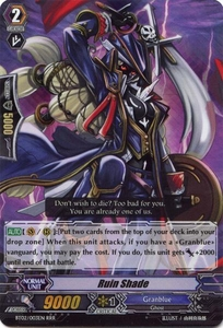 Cardfight Vanguard ENGLISH Onslaught of Dragon Souls Single Card RRR Rare BT02-003EN Ruin Shade