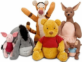 Winnie the Pooh Exclusive Limited Edition 6-Piece Plush Set in Canvas Duffel Bag Only 300 Made!