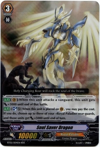 Cardfight Vanguard ENGLISH Onslaught of Dragon Souls Single Card RRR Rare BT02-004EN Soul Saver Dragon