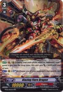 Cardfight Vanguard ENGLISH Onslaught of Dragon Souls Single Card RRR Rare BT02-005EN Blazing Flare Dragon