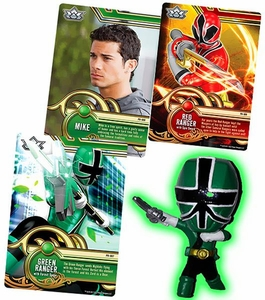 Power Rangers SUPER Samurai 1 Inch PVC Mini Figure & Trading Card Green Ranger