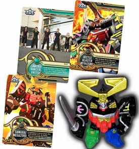 Power Rangers SUPER Samurai 1 Inch PVC Mini Figure & Trading Card Megazord