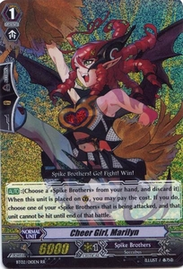Cardfight Vanguard ENGLISH Onslaught of Dragon Souls Single Card RR Rare BT02-010EN Cheer Girl, Marilyn