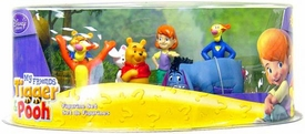 Disney My Friends Tigger Pooh Exclusive 7 Piece Mini PVC Figure Collector Set [Includes Winnie, Darby & Buster]