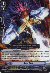 Cardfight Vanguard ENGLISH Onslaught of Dragon Souls Single Card RR Rare BT02-014EN Gust Jinn