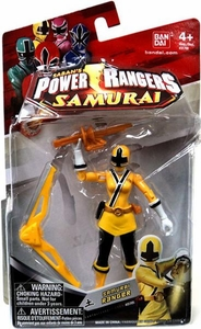 Power Rangers Samurai 4 Inch Action Figure SAMURAI Ranger Earth [Yellow]