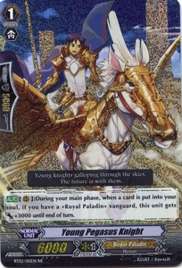 Cardfight Vanguard ENGLISH Onslaught of Dragon Souls Single Card RR Rare BT02-015EN Young Pegasus Knight