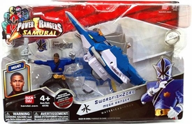 Power Rangers Samurai Vehicle & Action Figure SwordfishZord & Mega Blue Ranger Kevin